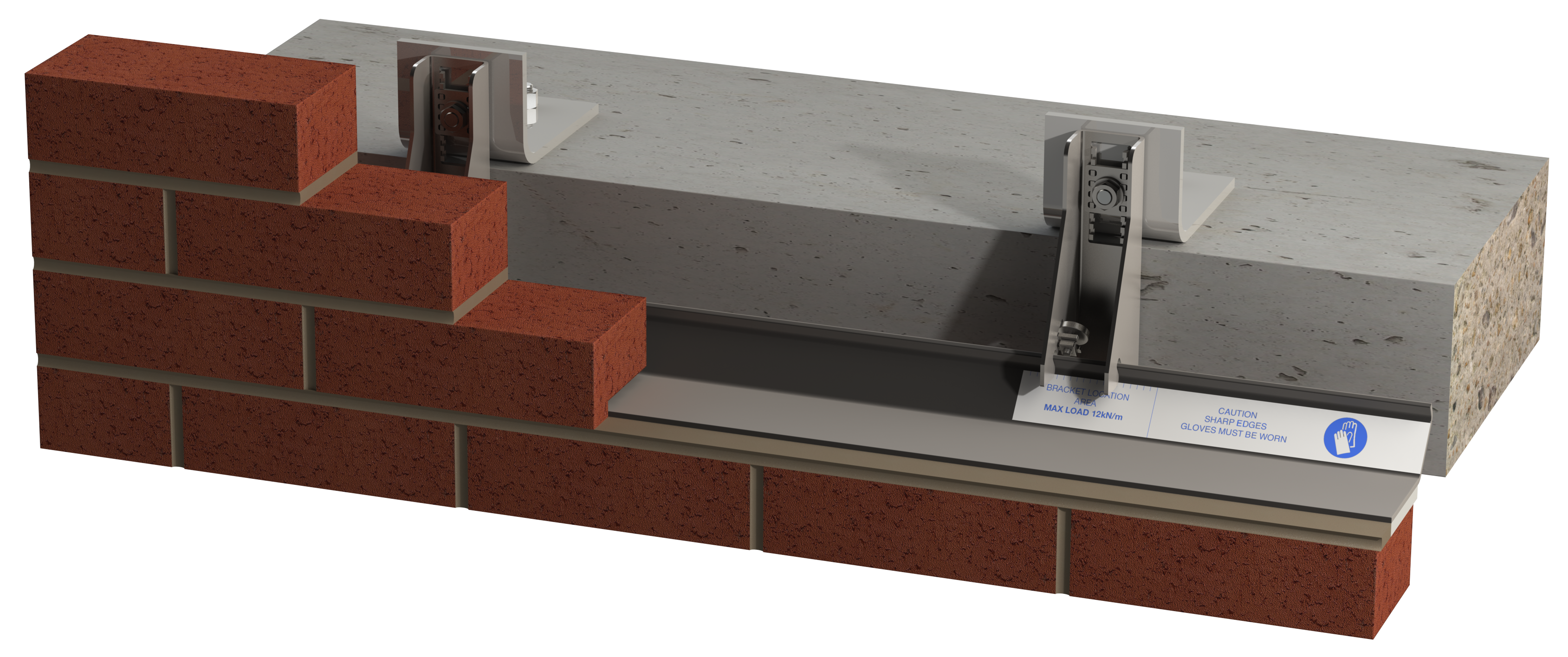 Image of Atlas 14+ masonry support with Alpha II washer