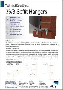 Image of 36/8 soffit hangers data sheet