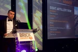 Image of Tony presenting Brick awards