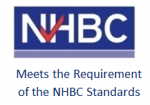 NHBC logo with credentials