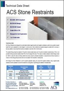 Image of stone restraints data sheet