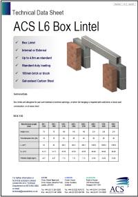Image of L6 box lintel data sheet
