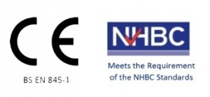 Image of CE BS EN 845-1 and NHBC logo