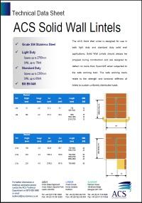 Image of solid wall lintels data sheet