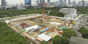 Image of construction of the embassy