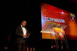 Image of Tony Higson presenting at the brick awards