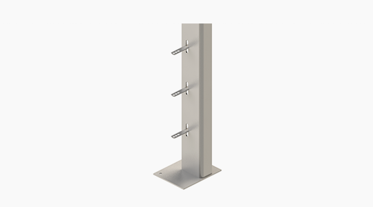 L Type Windpost | Windposts | L Type Parapet Post - ACS